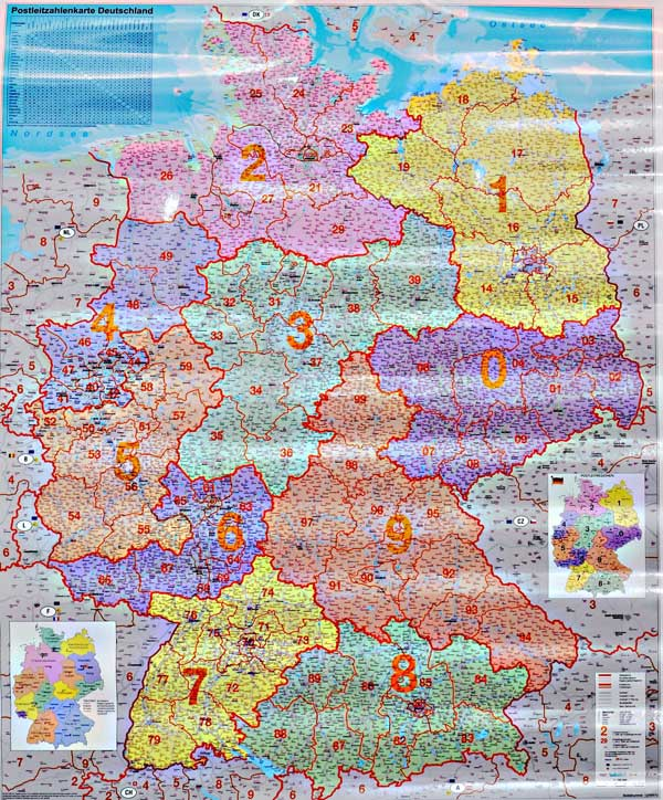 Карта Европы С Почтовыми Индексами